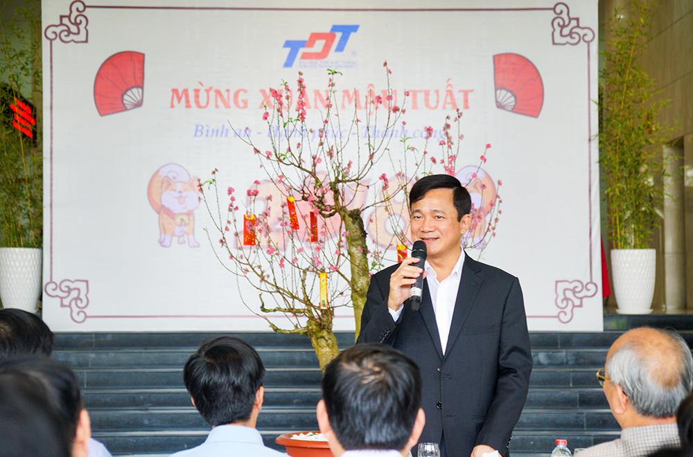 GS. Lê Vinh Danh, Hiệu trưởng chúc mọi người một năm mạnh khỏe và nhiều thành công mới