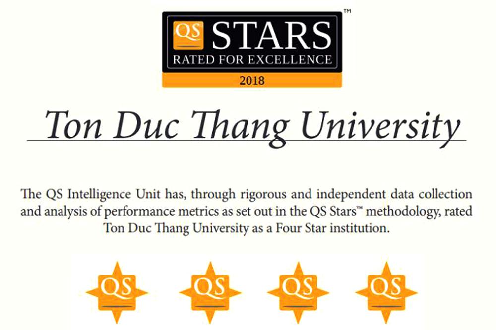 Đại học Tôn Đức Thắng đón nhận xếp hạng Đại học 4 sao