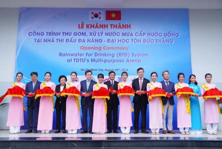 The opening ceremony and implementation of the project of collecting and transforming rainwater for drinking