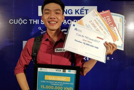 NGUYEN MANH HUY, student from the Faculty of Information Technology First Prize of TVCreate 2017
