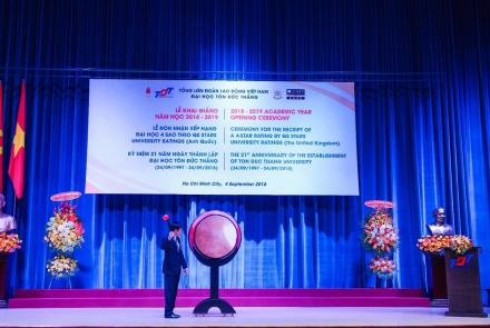 The 2018 – 2019 Academic Year Opening Ceremony at Ton Duc Thang University